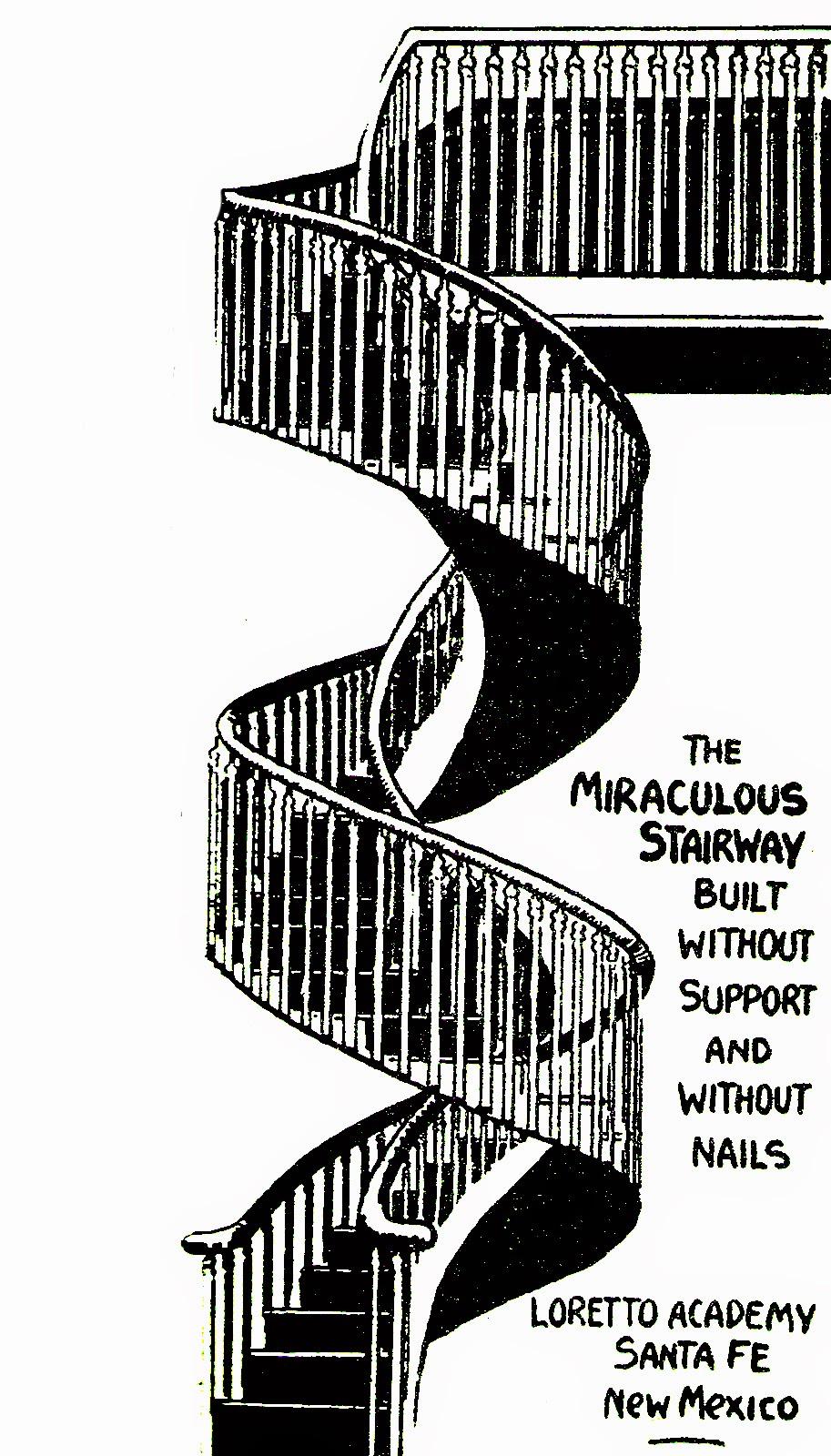 """La crepa nel muro: la scala miracolosa di """"nostra signora della luce"""""""