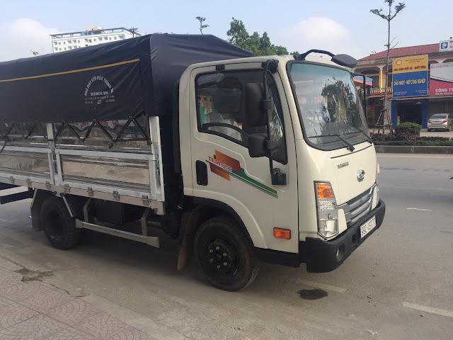 xe tải teraco 250 daehan 2,5 tấn thùng bạt