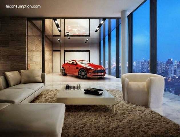 Apartamento de lujo con garaje en altura en Singapur