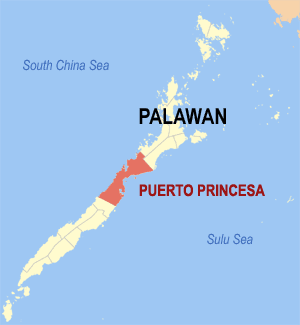 Puerto Princesa, Palawan map