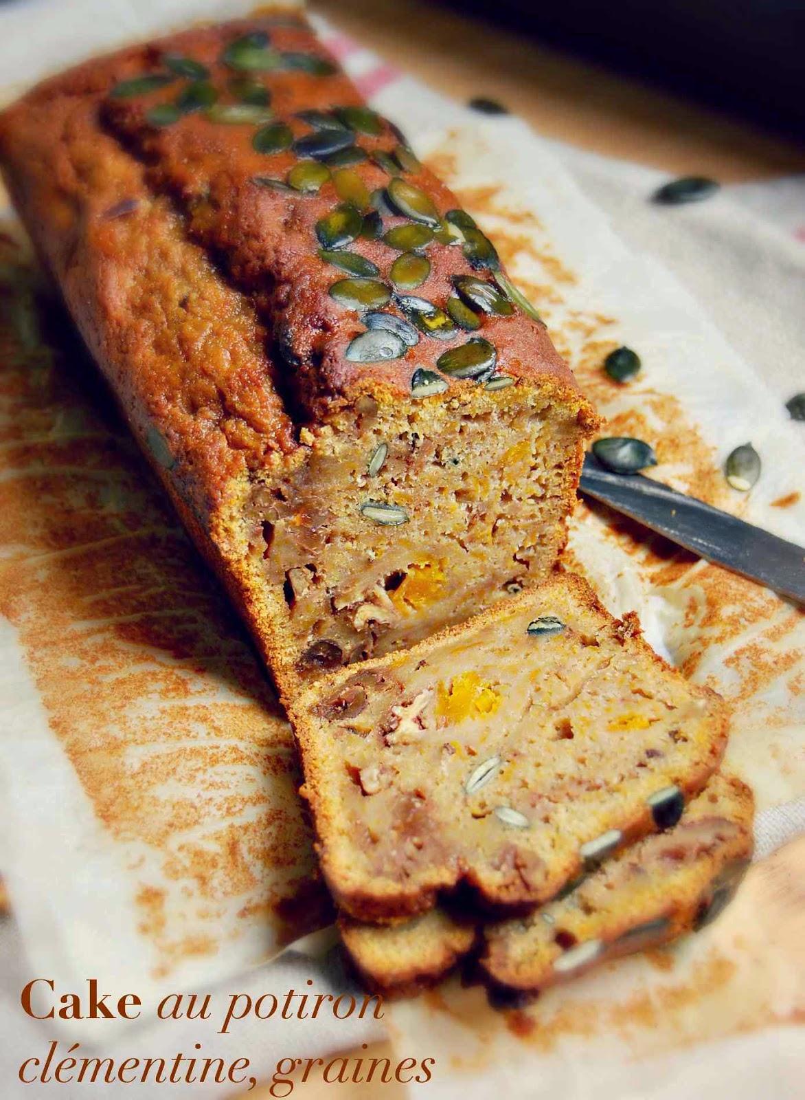 Cake au potiron noix et cl mentine - Cake au potiron sucre ...