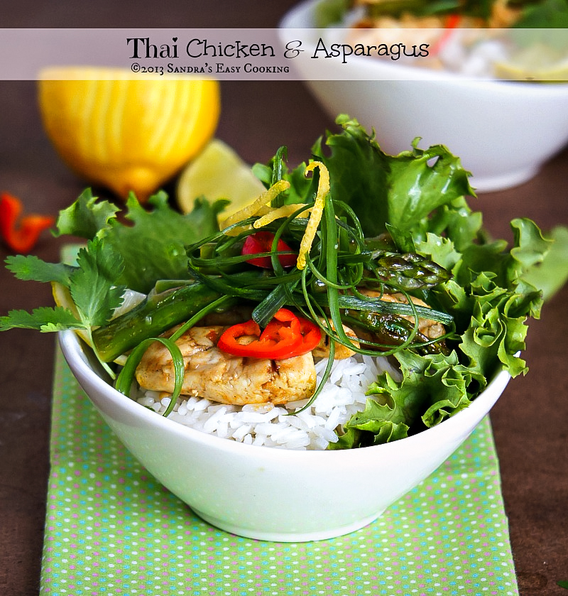 Homemade recipe for delicious and easy Thai Chicken & Asparagus