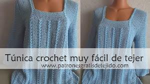 Guía para tejer una túnica crochet muy fácil / Paso a paso