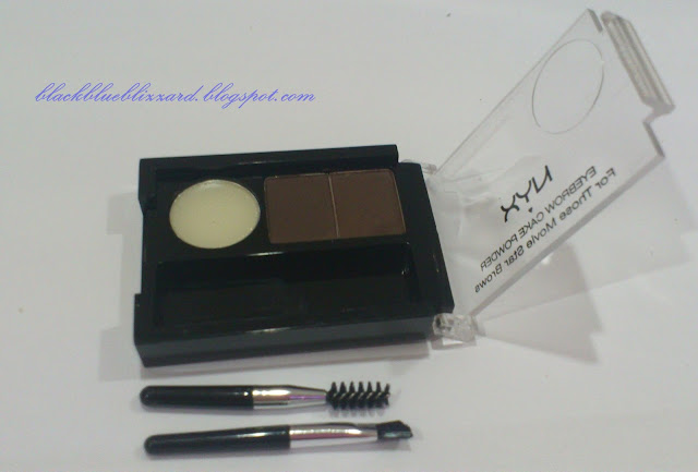 nyx, nyx makeup, eyebrow cake powder, eyebrow powder, dark brown