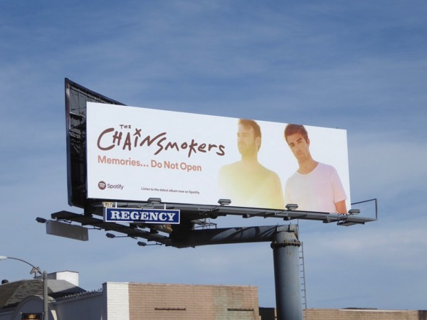 Chainsmokers Memories Do Not Open billboard