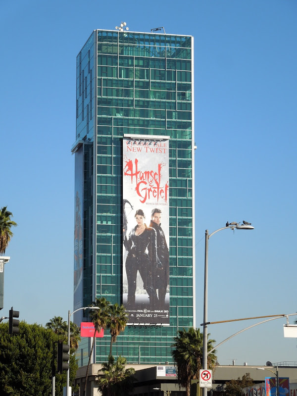 Giant Hansel Gretel movie billboard