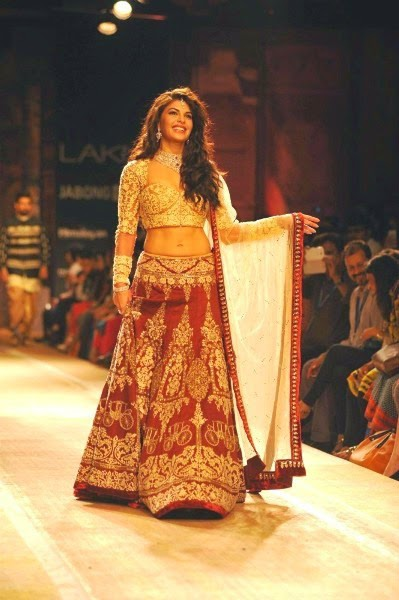 Jacqueline Fernandez At LFW Winter Festive 2014