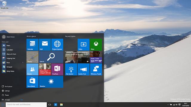windows 10 sistema operacional da microsoft