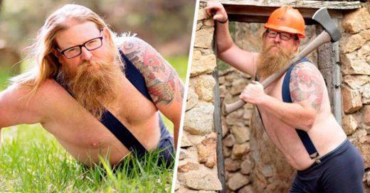 Estas fotos de un leñador harán felices a las mujeres