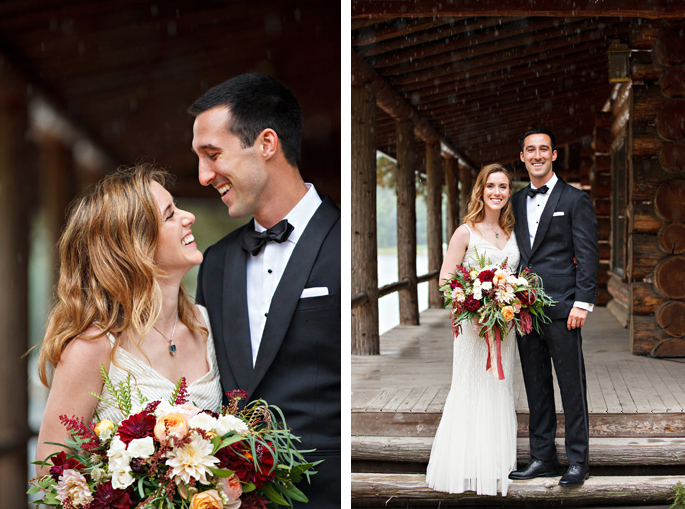 Kootenai Lodge Wedding / Photography: Brooke Peterson Photography / Wedding Coordinator: Courtney of 114-West / Venue: Kootenai Lodge / Bride's Bouquet: Mum's Flowers / Bride's Gown: J.Crew / Groom's Tux: J.Crew / Makeup Artist: Britlee of Envy Salon & Spa /