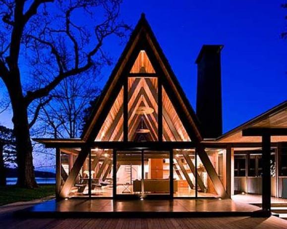 The A-Frame House  Monarch Landscape