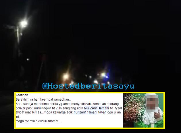 SAYU !! Ajal adik Hamani dalam gelap gelita waktu berbuka .. jatuh ke sungai ketika kayuh basikal (3 Gambar)