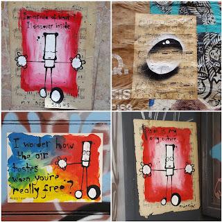 Whoopidooings: Street Art London July 2017 - My Dog Sighs