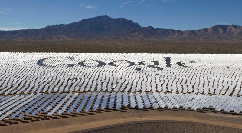 Painéis solares da Google