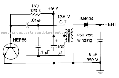 High Voltage Geiger Counter Supply Circuit Diagram