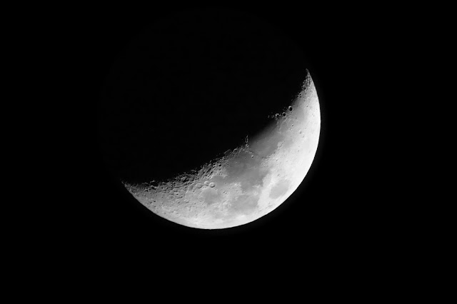 Le Lune, le soir du 21 Février au-dessus de la Place Saint-Germain... Photo Erwan Corre