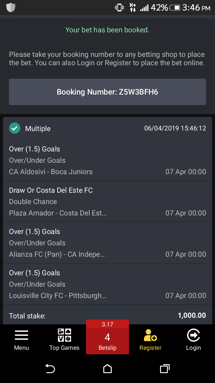 Sure bet9ja three odds for 07-04-19