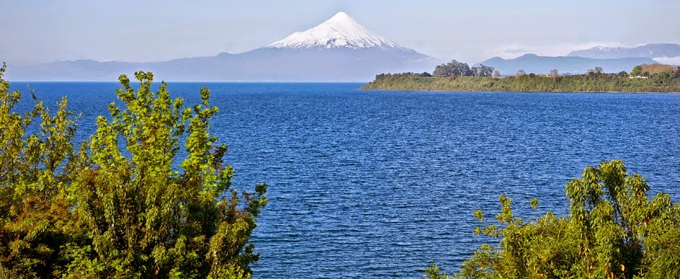 Llanquihue Lake and Osorno Volcano, southern Chile
