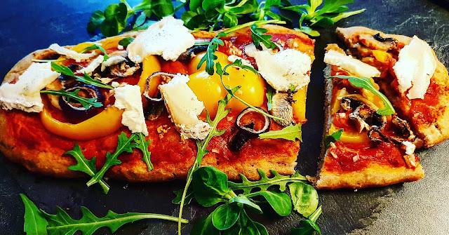 pizza minceur croustillante healthy IG bas