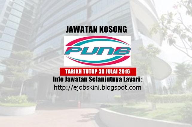 Jawatan Kosong Perbadanan Usahawan Nasional Bhd (PUNB)