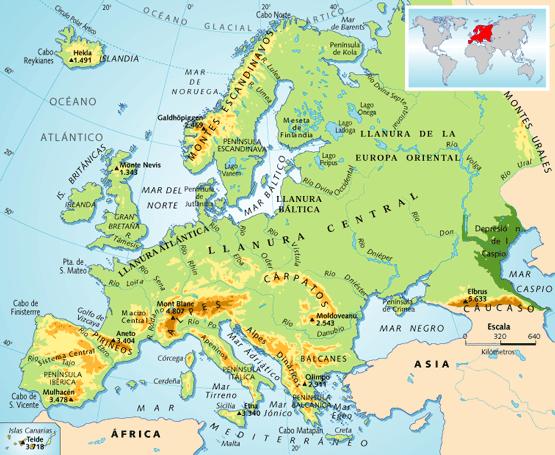 Mapa Fisic De Europa.Mapa De Europa Politico