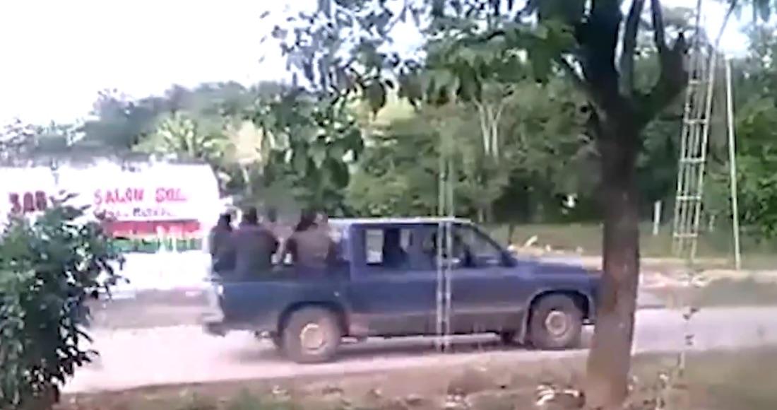 Video, Captan la llegada de convoy de sicarios a Hidalgotitán, Veracruz que ejecutaron al Alcalde electo