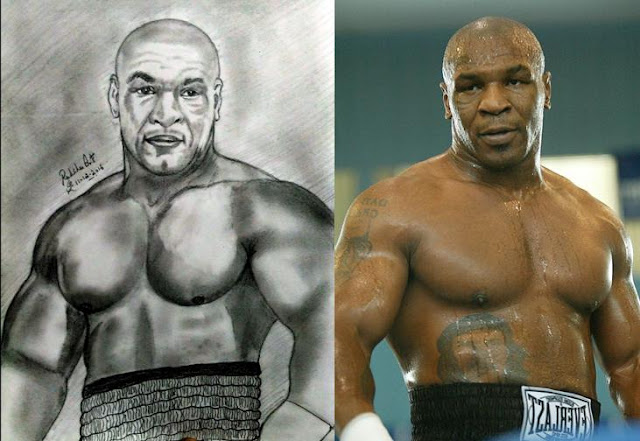 PENCIL DRAWING - Mike Tyson