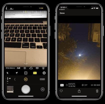 تطبيق Halide,iphone x