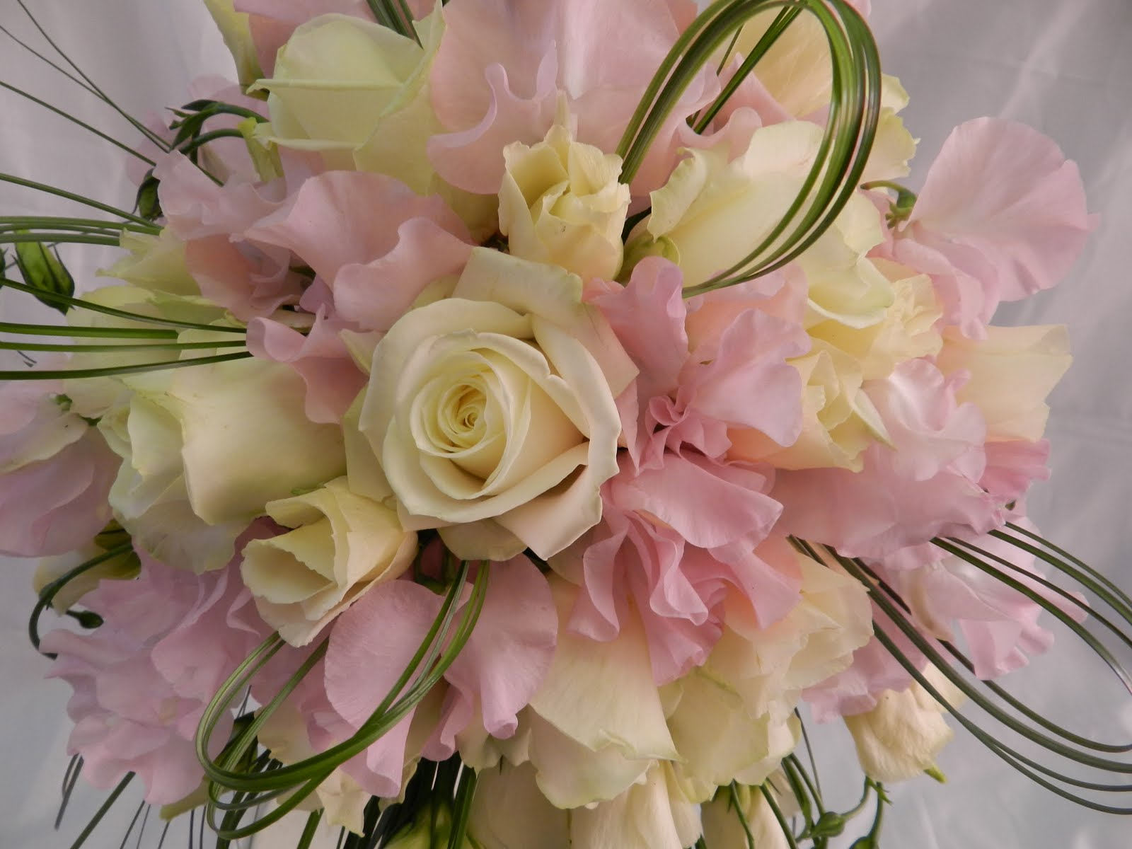 Sandras Flower Studio Ivory Pale Pink And Green Wedding Flowers