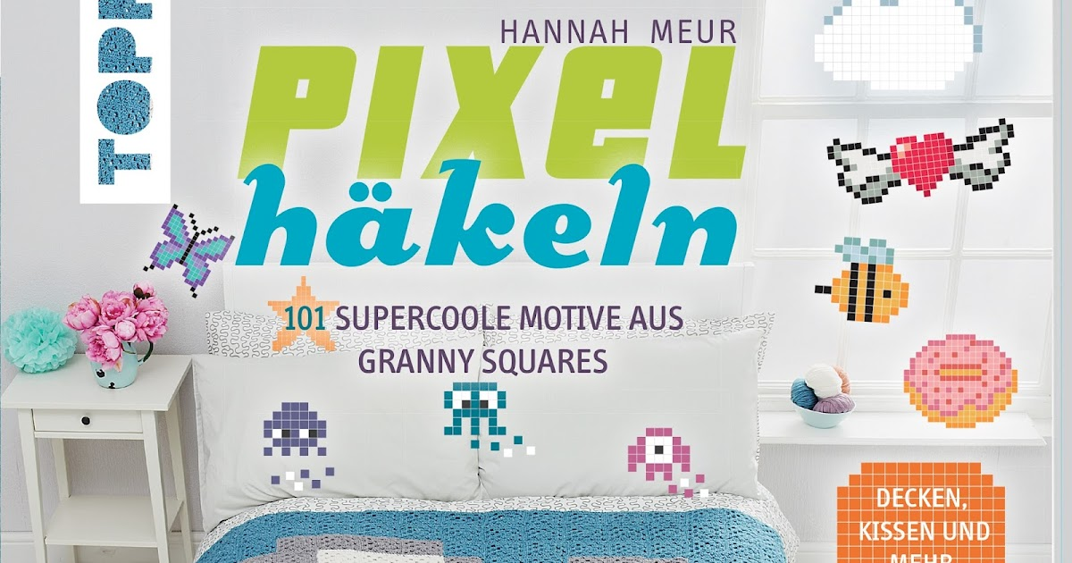 krumme naht pixel h keln granny squares ganz neu in szene gesetzt. Black Bedroom Furniture Sets. Home Design Ideas