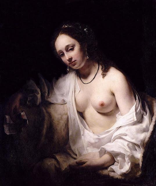Willem Drost: Betsabea con la lettera di re Davide
