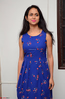 Pallavi Dora Actress in Sleeveless Blue Short dress at Prema Entha Madhuram Priyuraalu Antha Katinam teaser launch 057.jpg