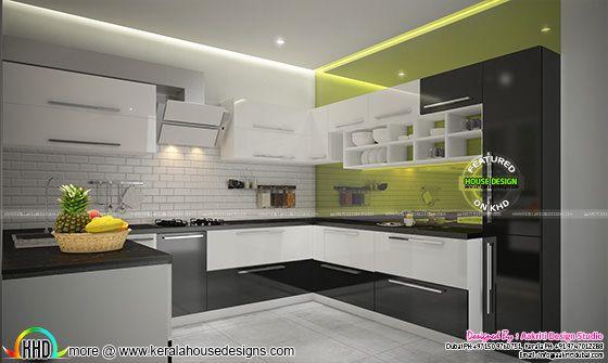 Flat kitchen interior Kerala