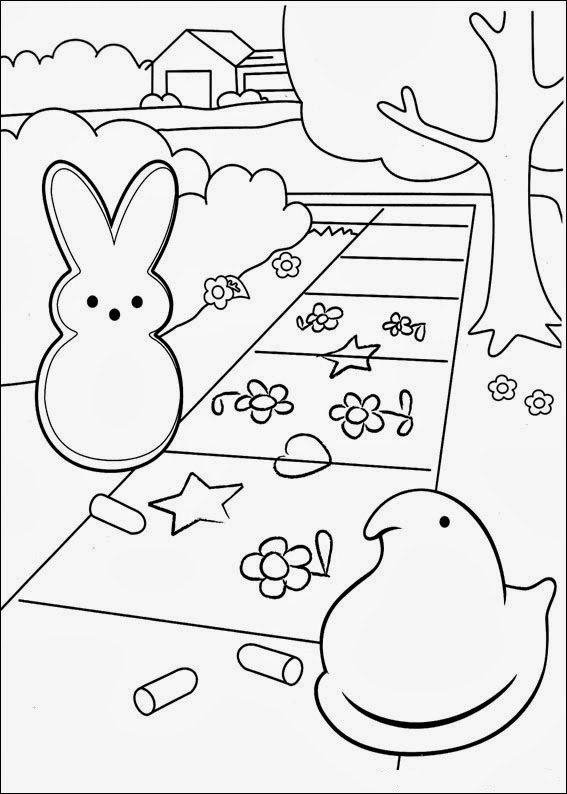 easter peeps coloring pages - photo#6