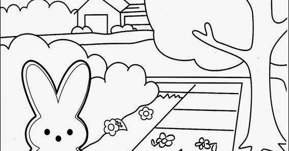 coloring pages of marshmallows | Fun Coloring Pages: Marshmallow Peeps Coloring Pages