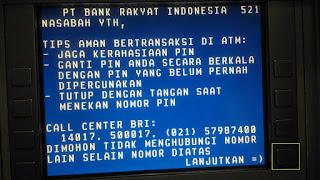 cara tarik dana dari ATM BRI lanjutkan mang
