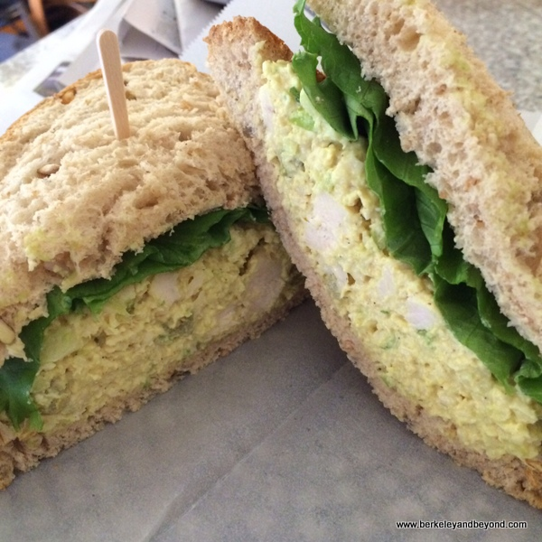 curry chicken sandwich at Geppetto's Caffe in Orinda, California
