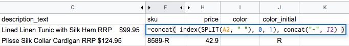 google sheet concat combine values