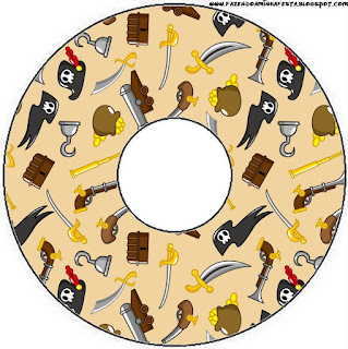 Pirate Party Free Printable CD Labels.