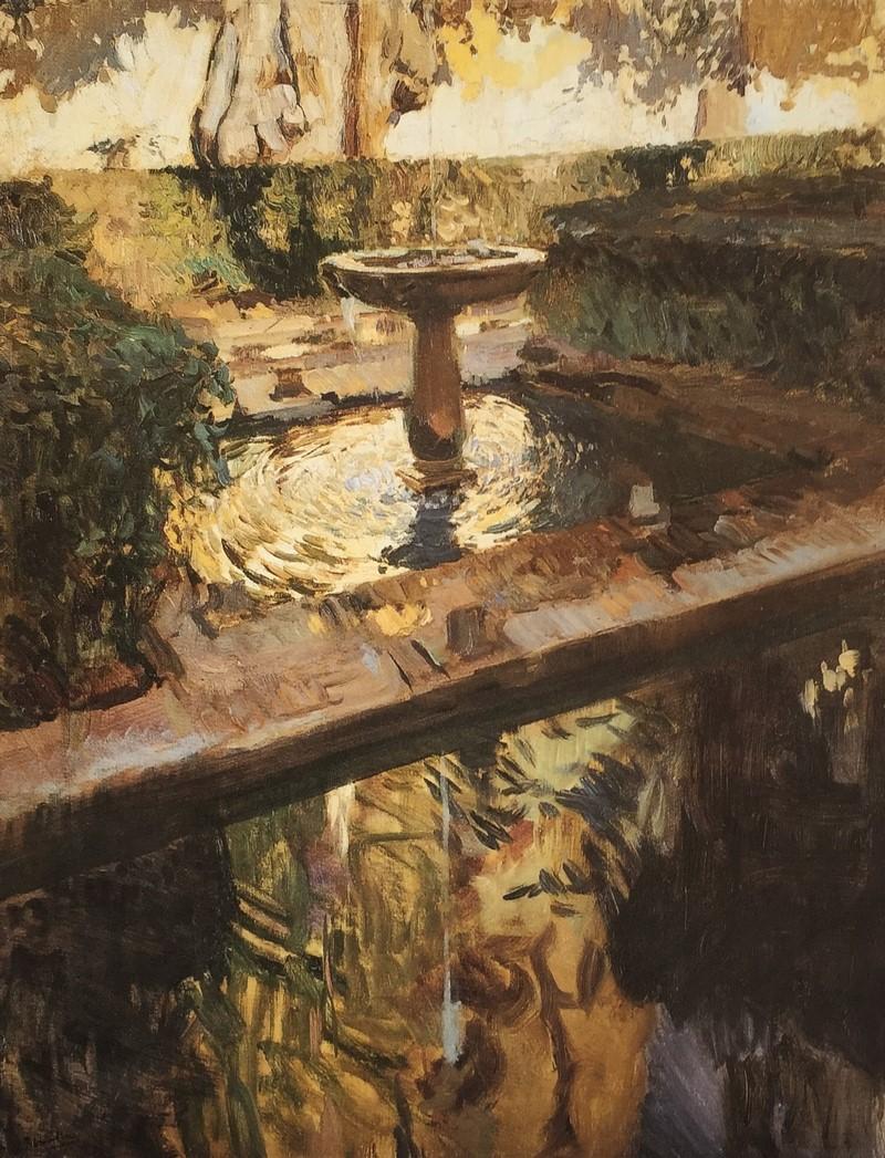 Generalife, Granada. Joaquín Sorolla, 1910 Exposición 32 obras fondos Museo Nacional Habana