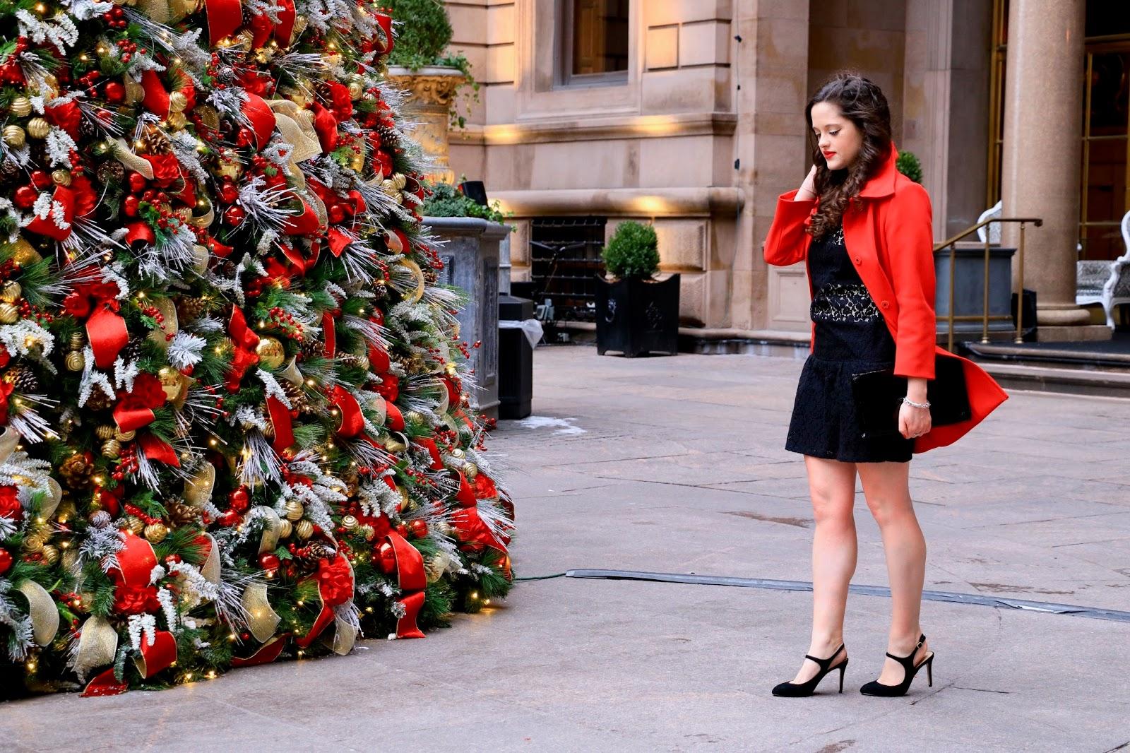 nyc fashion blogger holiday pics