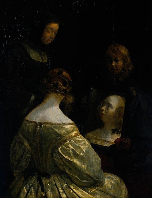 Gerard Terborch Женщина у зеркала
