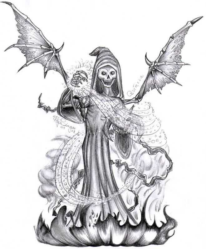 Colorir E Pintar: Figuras De Demônio