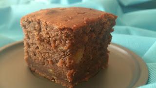 brownie chocolate platano banana jugoso rico sencillo cuca horno fruta desayuno merienda postre receta