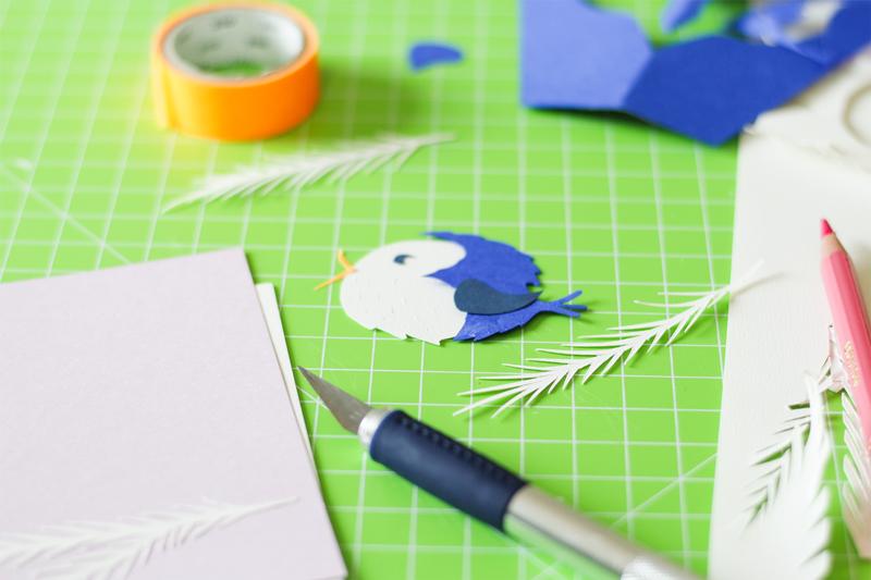 bird paper cut Camille Epplin