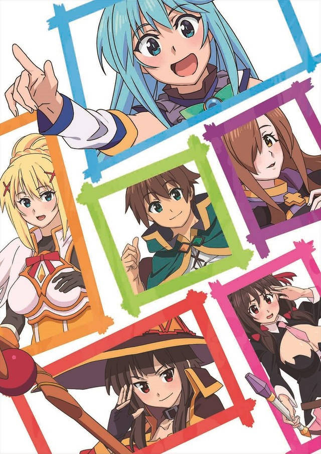 KonoSuba - plakat z bohaterami filmu anime