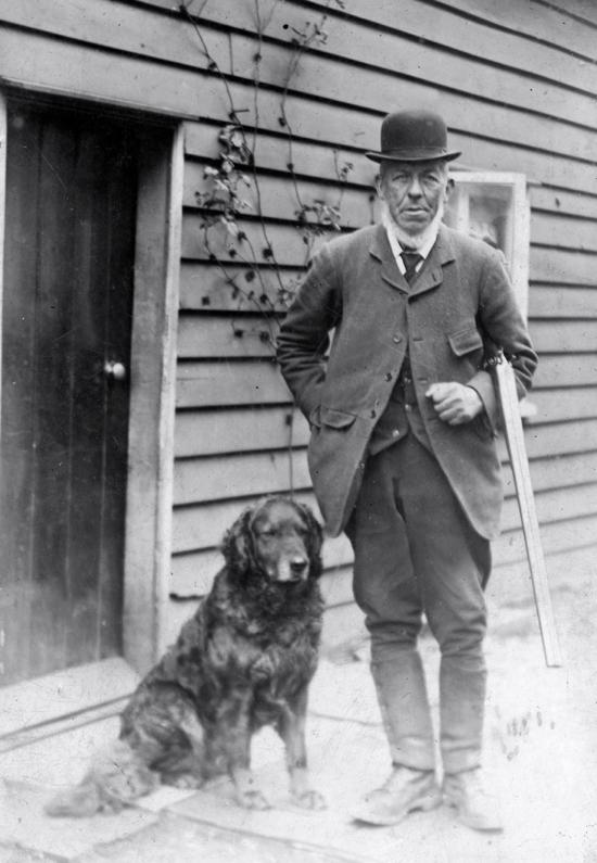 Photograph of Noah Smith gamekeeper at Sheepshead Hall, Bradmore Lane c 1905