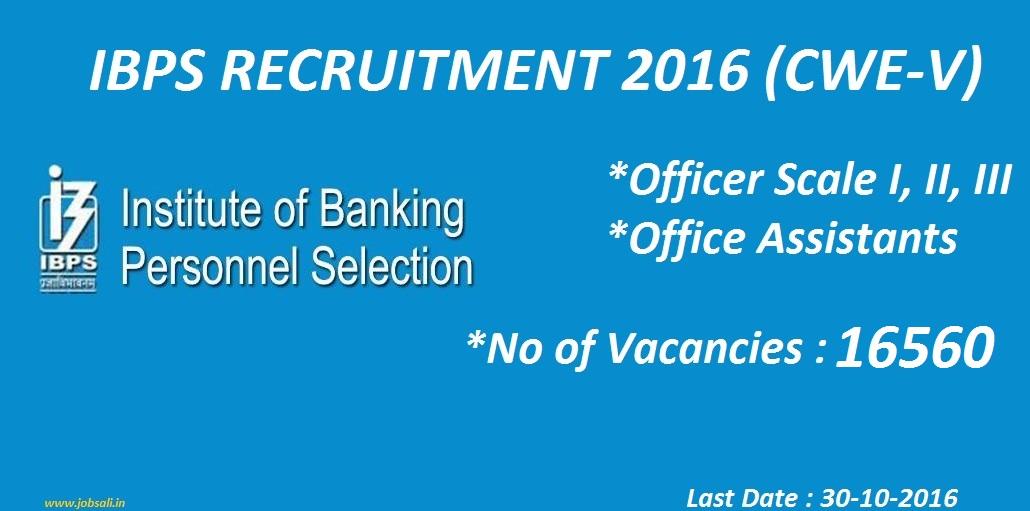 Bank Jobs, IBPS exam , IBPS Recruitment 2016