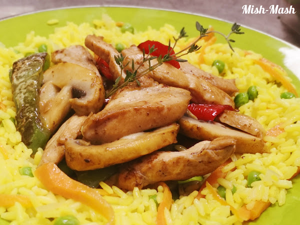 Пикантно пилешко с чушки