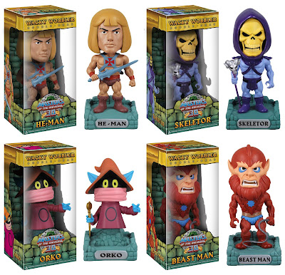 Masters of the Universe Wacky Wobbler Bobble Heads by Funko - He-Man, Skeletor, Orko & Beast Man